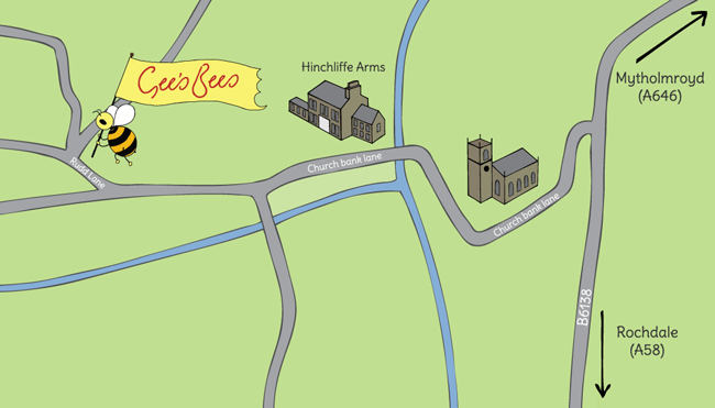 Map to Gee's Bees